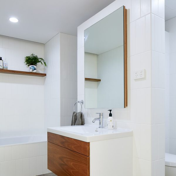 Retrofitted vanity storage - Birchgrove
