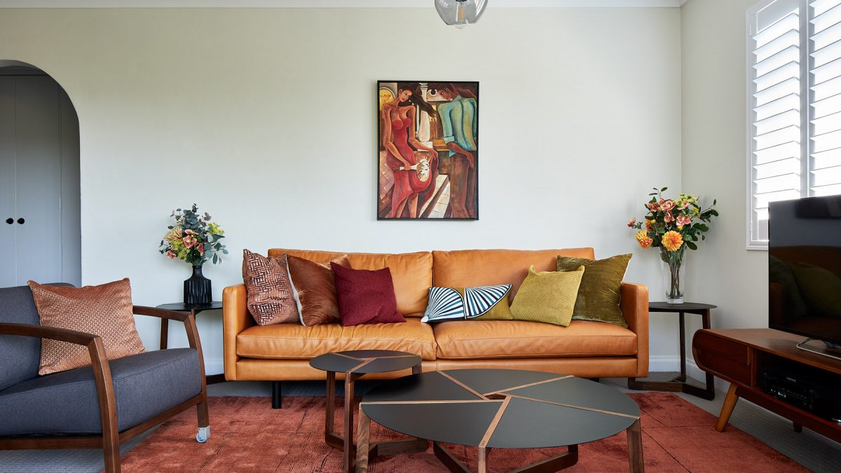 Living room with warm colours