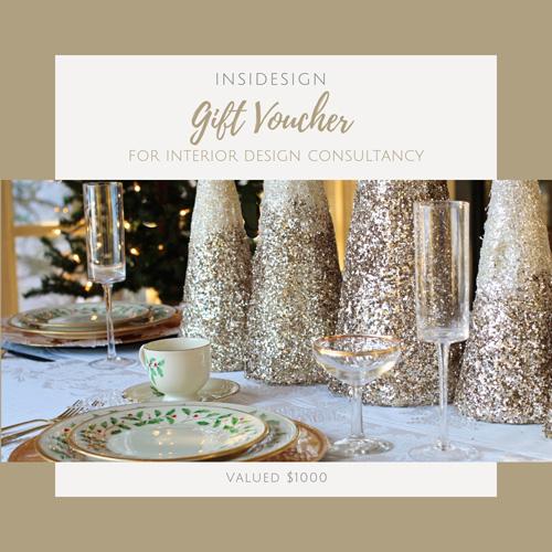 interior design christmas gift voucher