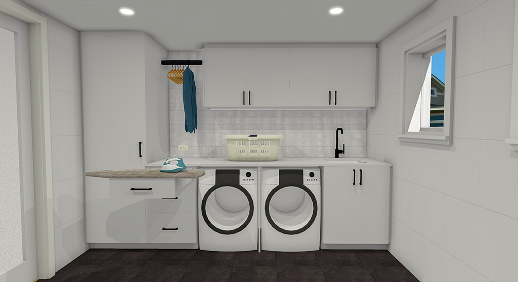 Laundry 3D rendering by INSIDESIGN