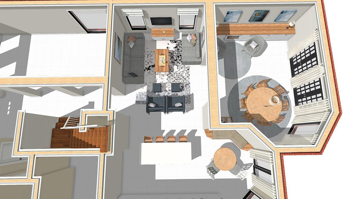 interior design - before floor plan